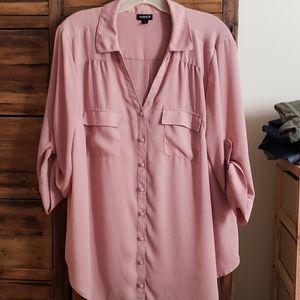 TORRID Georgette rose colored blouse